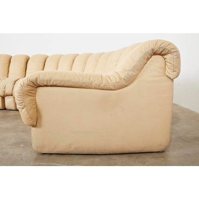 Matched Pair of De Sede Ds600 Non-Stop Leather Sectional Sofas For Sale In San Francisco - Image 6 of 13