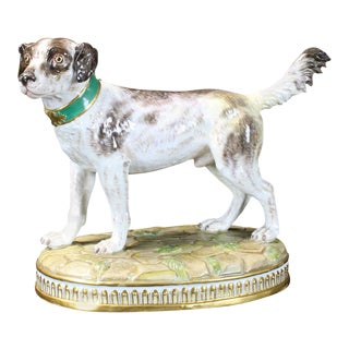 19th Century Meissen Dog Figurine For Sale