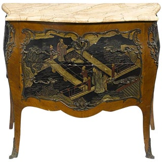 Louis XV Style Chinoiserie Coromandel Commode, 19th Century For Sale