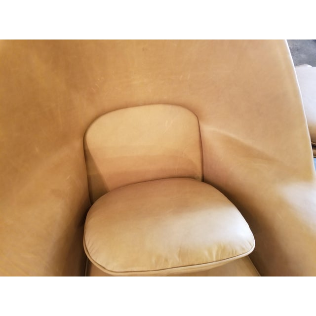 Tan Saarinen Tan Leather Womb Chair & Ottoman For Sale - Image 8 of 11