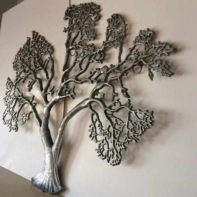 Mid-Century Industrial Aluminum Tree of Life - Image 3 of 11