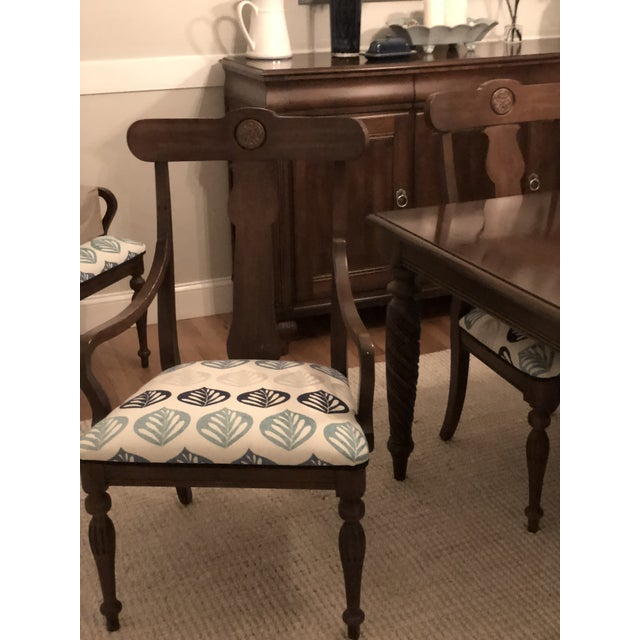 Modern Ethan Allen British Classic Dining Set For Sale In Portland, ME - Image 6 of 10