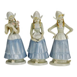 Vintage Crown Royals Porcelain Figurines - Set of 3 For Sale