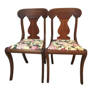 20th Century Empire Mahogany Fiddle Back Chairs - a Pair