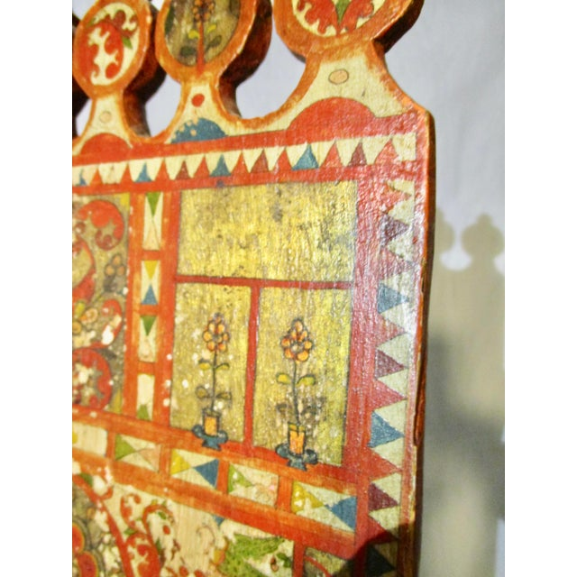 Late 19th Century Antique Russian Distaff Regional Folk Art Artifact For Sale - Image 5 of 11