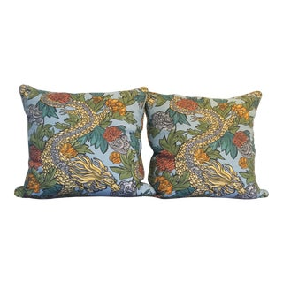 Ming Dragon Down Pillows - a Pair For Sale