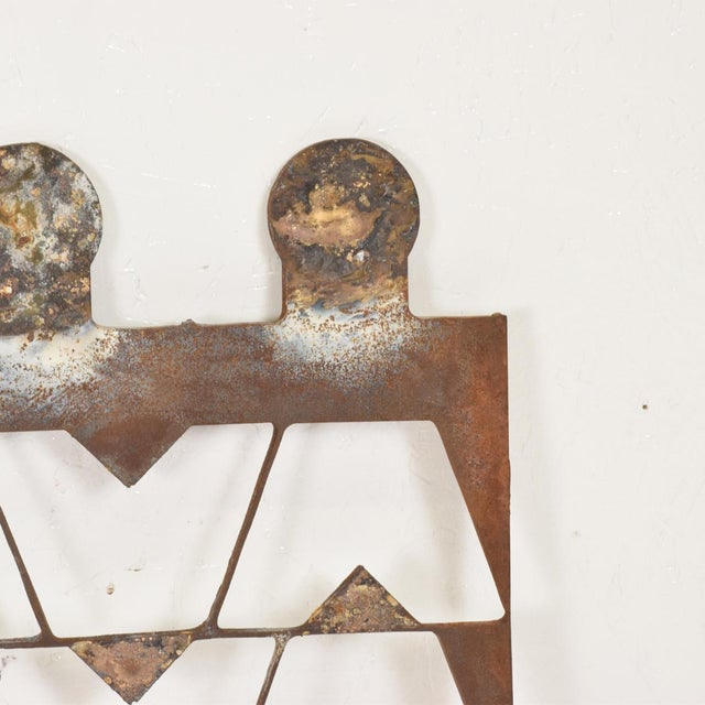 Jean Royère Mexican Modernist Metal Art Room Divider Screen For Sale - Image 4 of 9