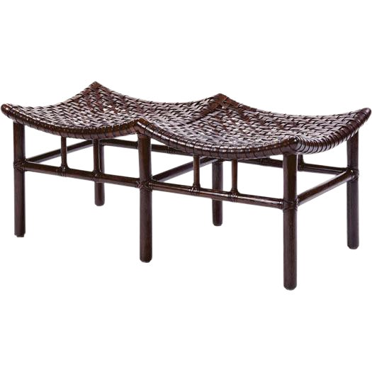 Antalya Double Bench by McGuire For Sale
