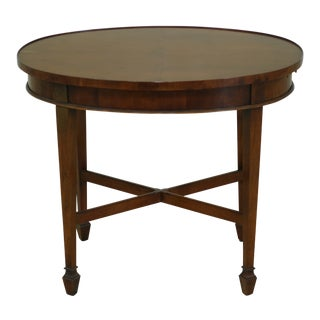 49259ec: Hekman Yew Wood Oval Occasional Tea Table For Sale