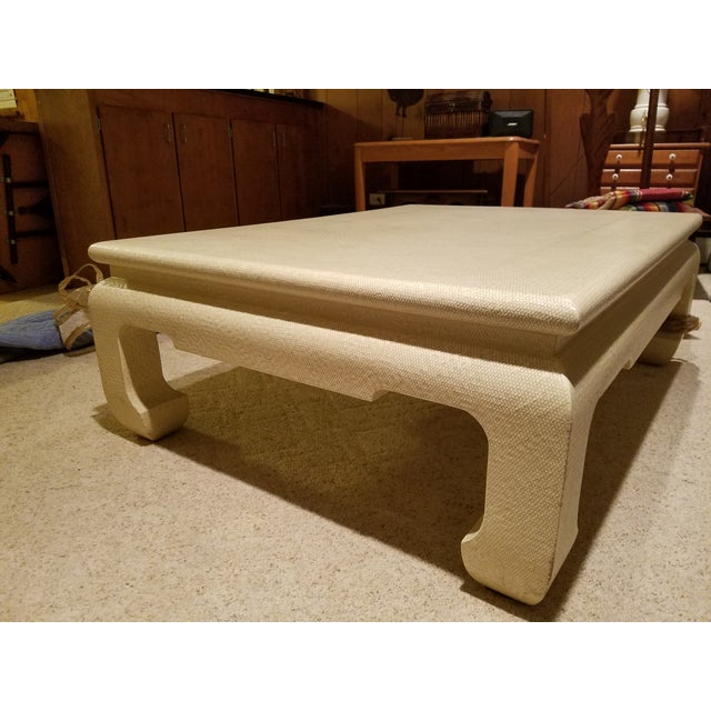 Custom Egg Shell Ming Style Rectangle Coffee Table - Image 2 of 7