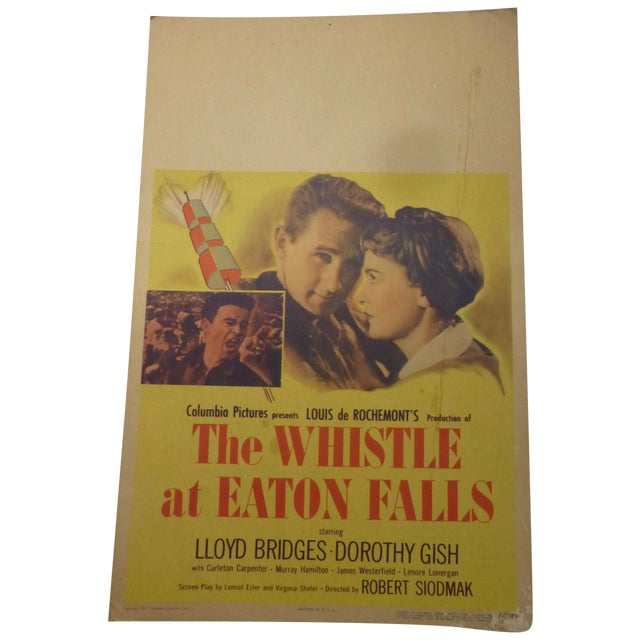 1951 'Whistle at Eaton Falls' Lobby Card For Sale