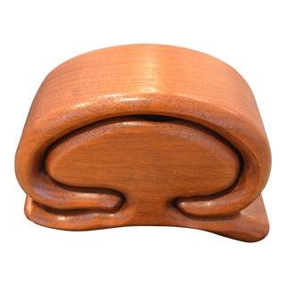 1970s Richard Rothbard Wood Trinket Box For Sale