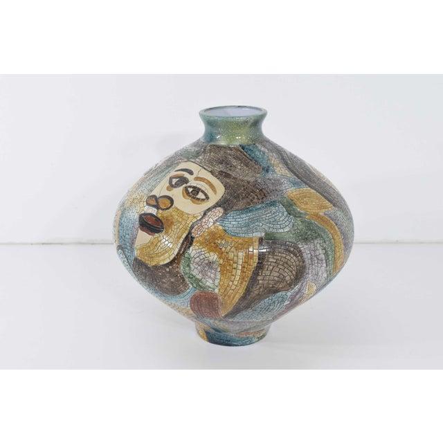 Large Pablo Picasso Mosaic Ceramic Vase For Sale - Image 11 of 11