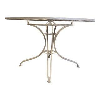 Mid Century Salterini Wrought Iron Patio Table For Sale