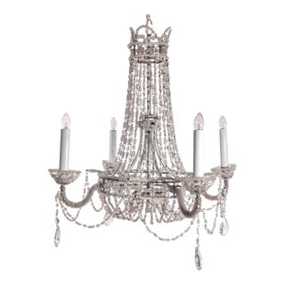 Crystal Beaded Chandelier For Sale