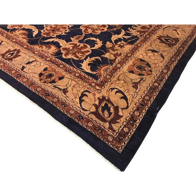 Inspire your style with this beautiful blue hand knotted rug. Made with the finest wool and an intricate oriental...