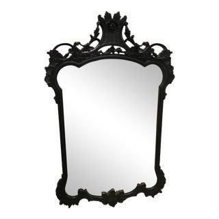 Vintage Black Lacquer Mirror