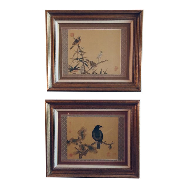 Antique Chinoiserie Framed Prints - a Pair For Sale