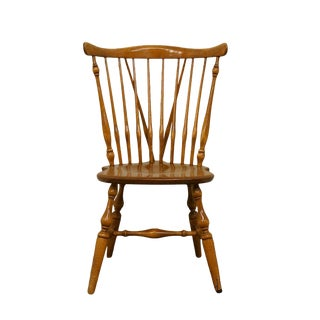 Ethan Allen Heirloom Maple Fiddleback Duxbury Side Chair For Sale