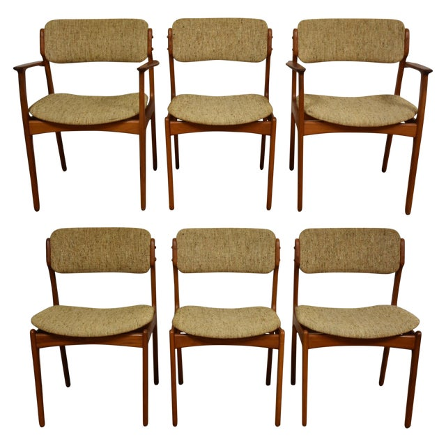 Erik Buck Teak Dining Chairs - Set of 6 - Image 1 of 11