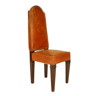 French Art Deco Macassar Sided Chairs For Sale