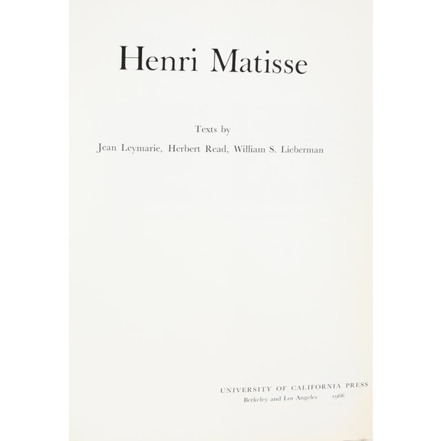 Henri Matisse Book - Image 2 of 4