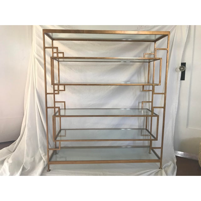 Worlds Away Doris Gold Leaf Etagere For Sale - Image 5 of 5