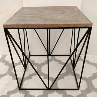 Theodore Alexander Hammered Iron, Geometric Square Side Table Preview