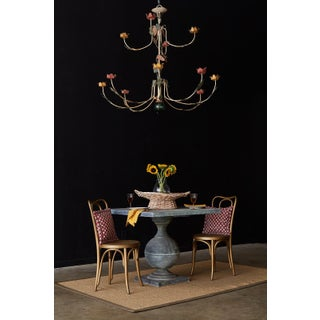 Rustic French Iron Twelve-Light Candle Chandelier Preview