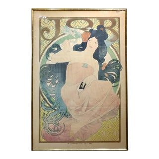 Alphonse Mucha - Job - Original 1898 French Poster -Rare