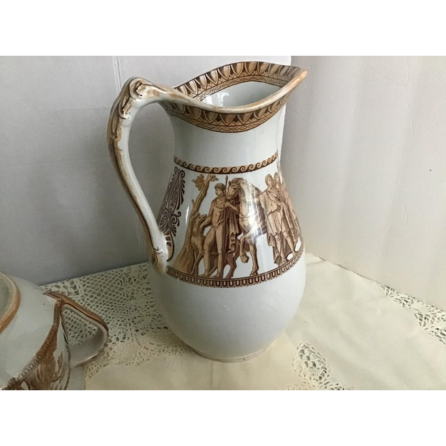 1800s Greek Roman Emperor Chamber Pot Pitcher Bathroom Set - 7 Pieces For Sale - Image 9 of 13