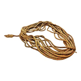 Vintage Nautical Woven Manila Rope - 140 Feet