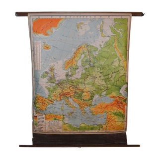 Post-War School Map of Europe - 1949 Edition For Sale