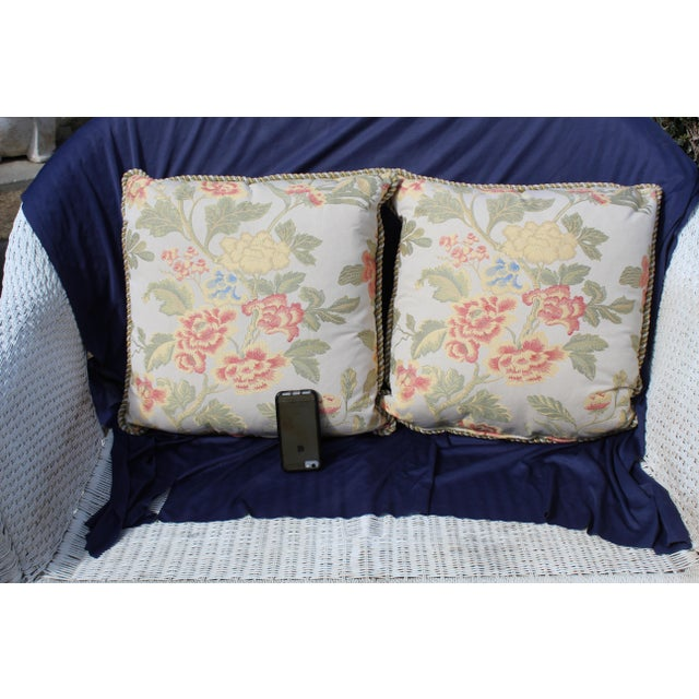 Pr. Of Possible Italian Scalamandre Down Filled Pillows For Sale - Image 11 of 13