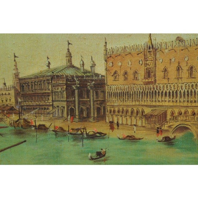 Vintage 20th Century Venice Italy Patin Impressionist Cityscape Oil Painting For Sale - Image 10 of 12