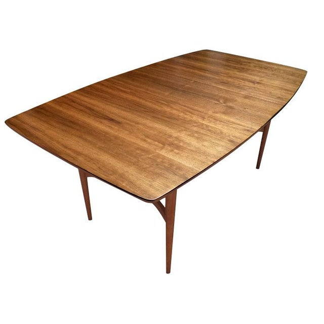 Mid-Century Modern Bowed Table - Image 1 of 3