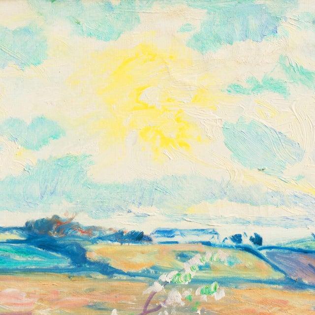 'Sunlit Spring Landscape', by Ejnar Kragh, Paris, Danish Post Impressionist For Sale - Image 4 of 10