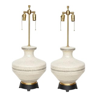 Gerald Thurston Porcelain Lamps - a Pair For Sale