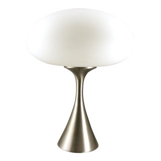 20th Century Space Age Laurel Co. Brushed Chrome Atomic Mushroom Lamp For Sale