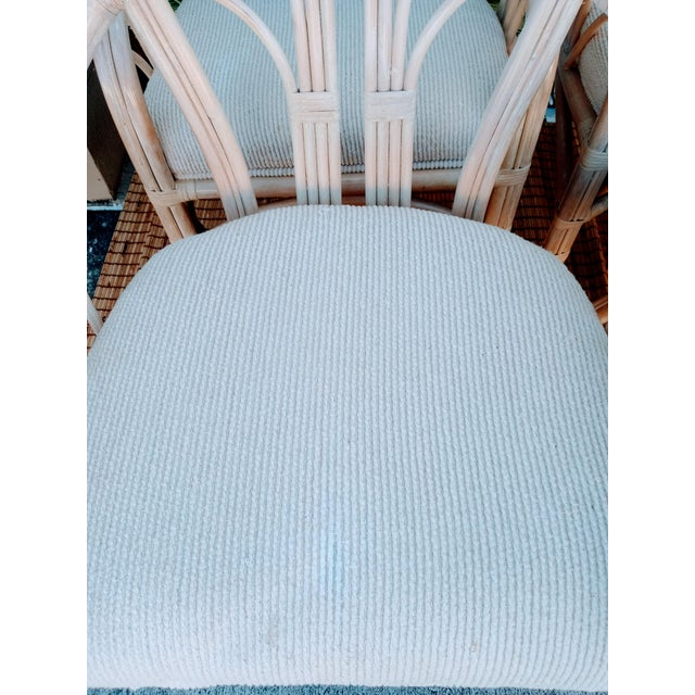 Traditional Vintage McGuire Style Natural Coastal Rattan Dining Arm Chairs Set of 6 For Sale - Image 3 of 10