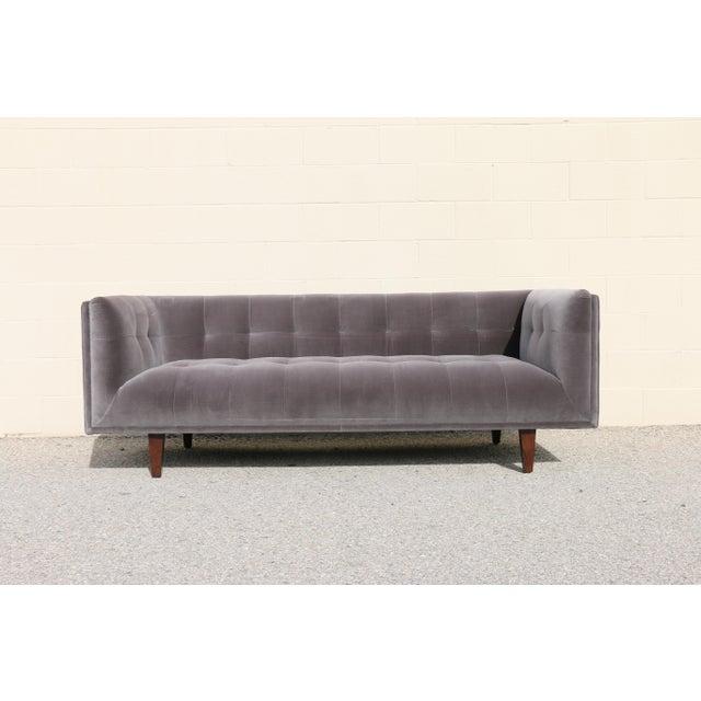 Modern Velvet Tufted Sofa - Image 10 of 10