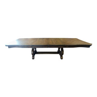 Thomasville Furniture Casa Veneto Pecky Pecan Stella Trestle Dining Table For Sale