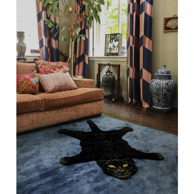 Doing Goods Fiery Black Panther Rug Large For Sale - Image 4 of 6