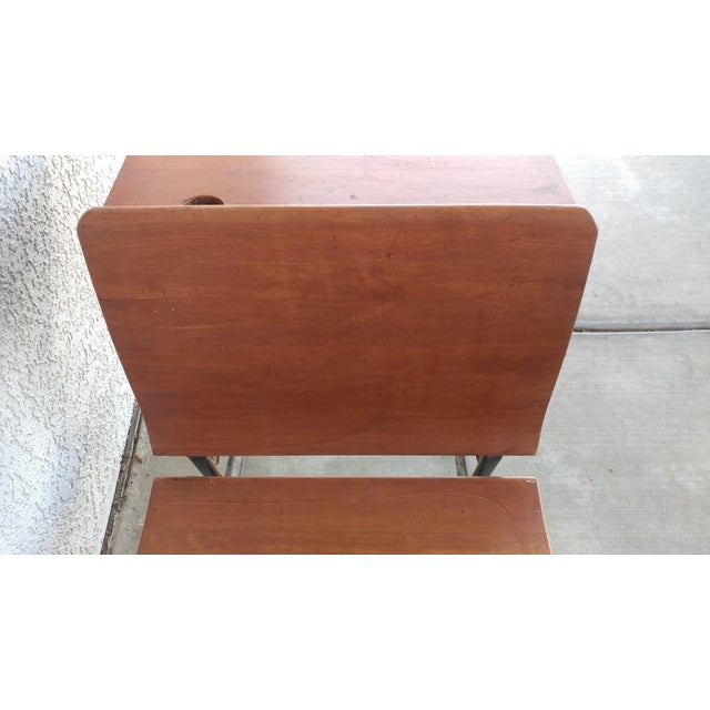 Vintage Arkansas School Desk by ASC For Sale - Image 5 of 8