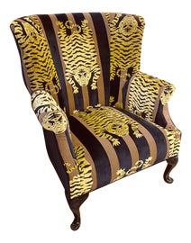Image of Gold Wingback Chairs