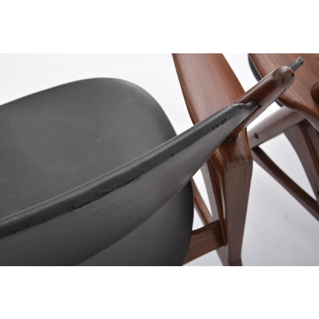 Pair of 1950s Vintage Black Midcentury Chairs For Sale - Image 9 of 12