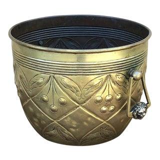 Jardiniere, 19th Century Italian Embossed Brass For Sale