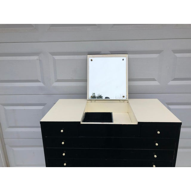 Glass Mid-Century Modern Highboy Dresser W/ Vanity Top by American of Martinsville For Sale - Image 7 of 13