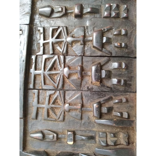 Early 20th Century African Carved Granary Door From Africa - Mali For Sale - Image 9 of 11