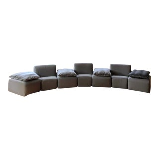 John Mascheroni Tappo Sectional Sofa for Vecta With Mohair Cushions For Sale